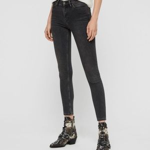 allsaints GRACE BODY SHAPING SKINNY jeans pink